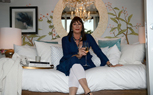 Anjelica Huston at Airbnb's Hello LA Event at Cook's Garden by HGEL