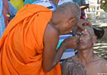 Ordination of Buddhist Monk-Head Shaving
